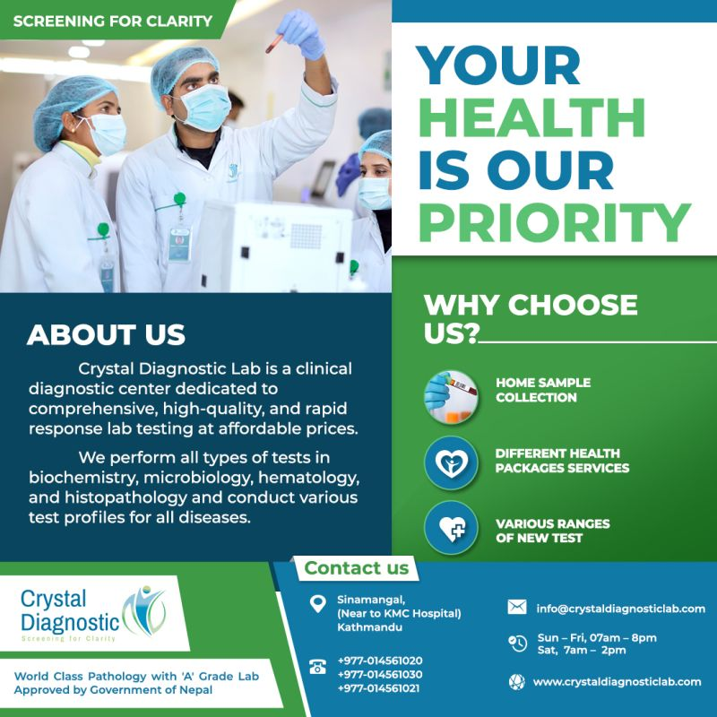 Pathlab in Nepal - Crystal Diagnostics Labs